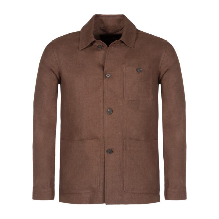 Sandalwood Washed Linen Work Jacket