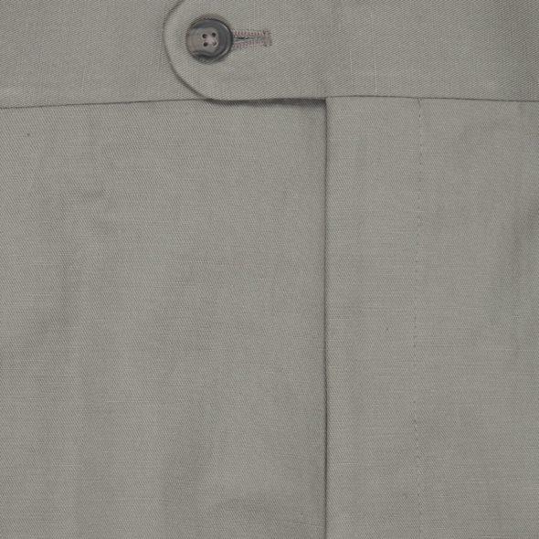 Grey Cotton Linen Blend Cargo Pants