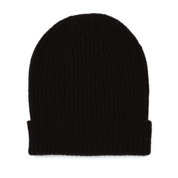 Black-Ribbed-Cashmere-Hat