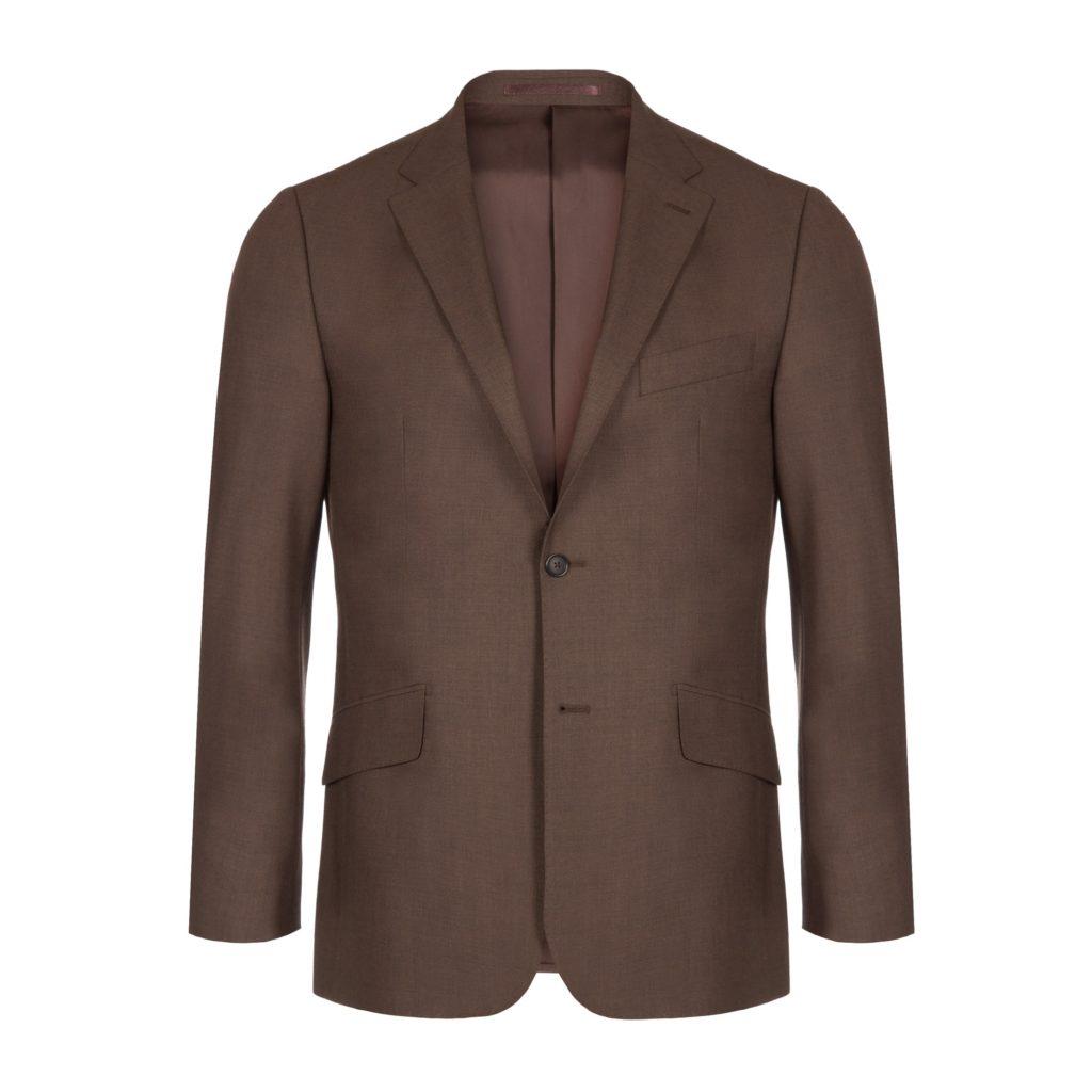 Brown Wool Fresco Suit Jacket