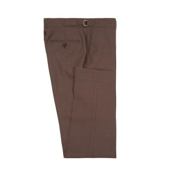 Brown Wool Fresco Suit Trousers