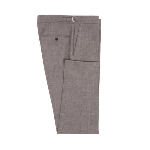 Grey Wool Fresco Suit Trousers