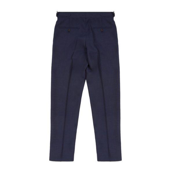 Navy Blue Wool Fresco Suit Trousers