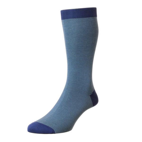 Ocean Microstripe Pattern Cotton Socks