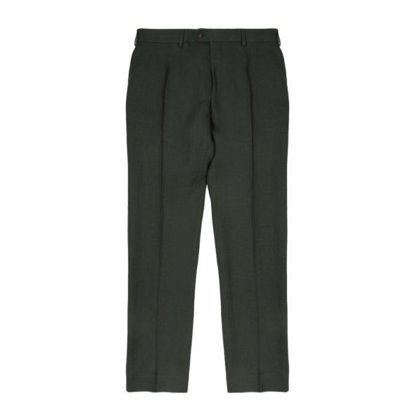 Timothy Everest Dark Eucalyptus Green Washed Programme Linen Trouser 1