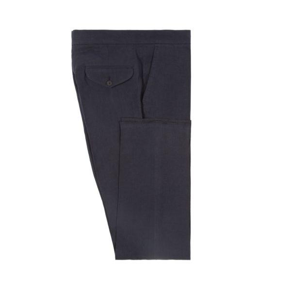 Navy Linen Drawstring Trousers