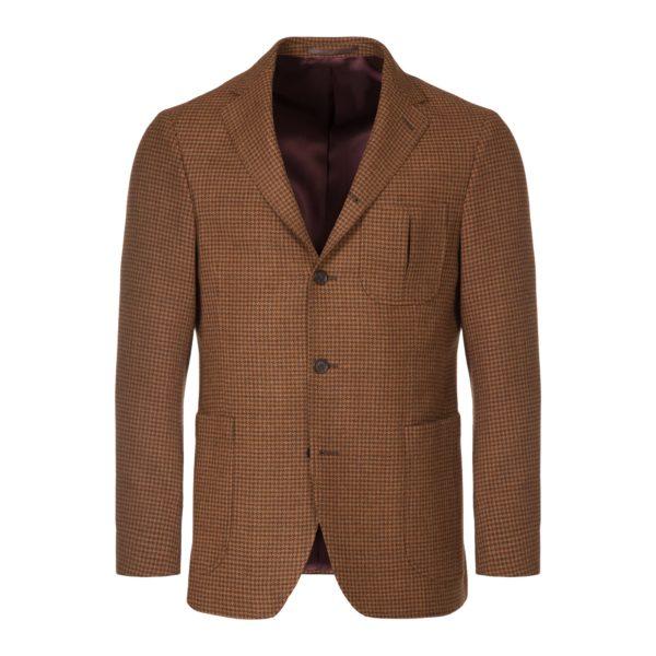 Russet Brown Houndstooth Simplon Jacket