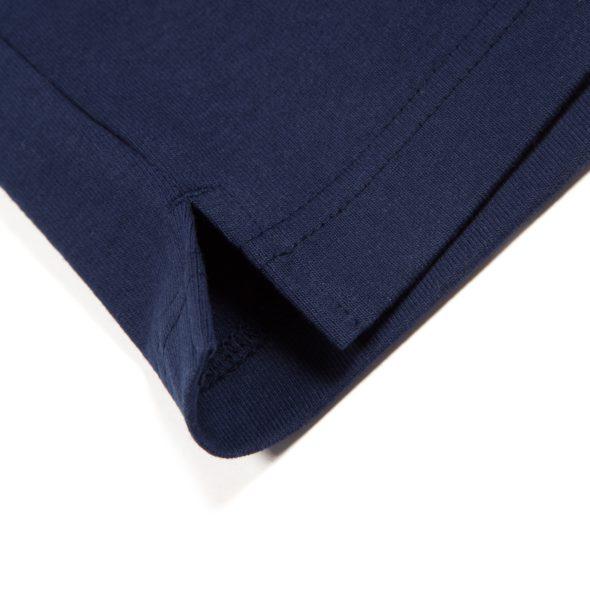 Navy Cotton Long Sleeve Tee