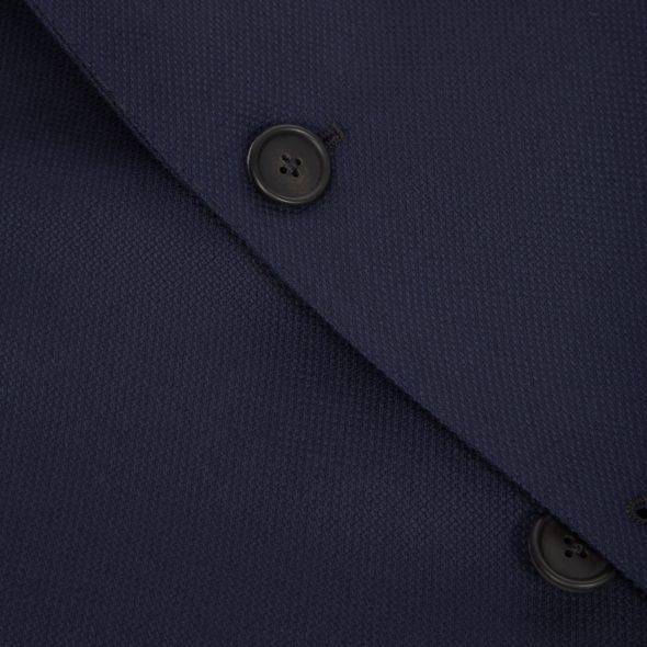 Navy Hopsack Wool Hoxton Blazer
