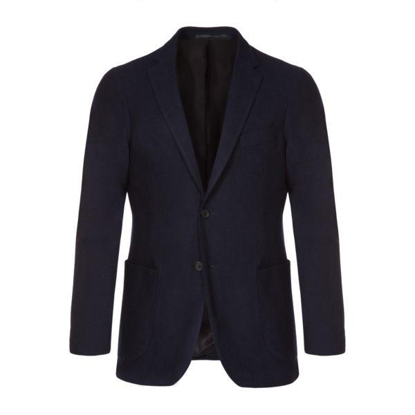 Navy Washed Wool Jacket