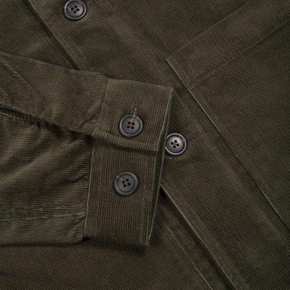Olive Cotton Blend Corduroy Work Jacket