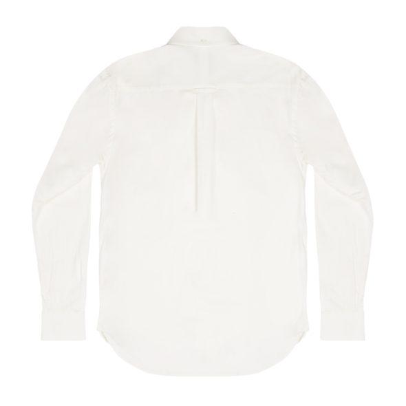 White Cotton Flannel Twill Redchurch Shirt