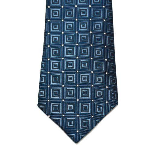 Petrol Blue Pattern Nishijin Silk Tie