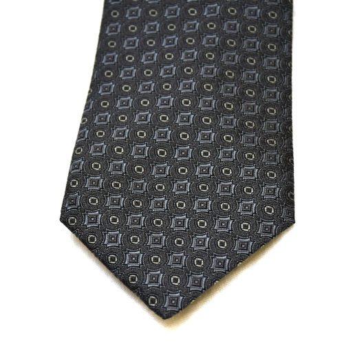 Grey Pattern Nishijin Silk Tie