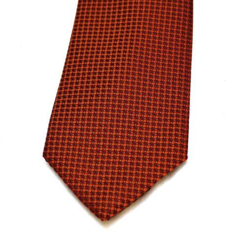 Red Pattern Nishijin Silk Tie