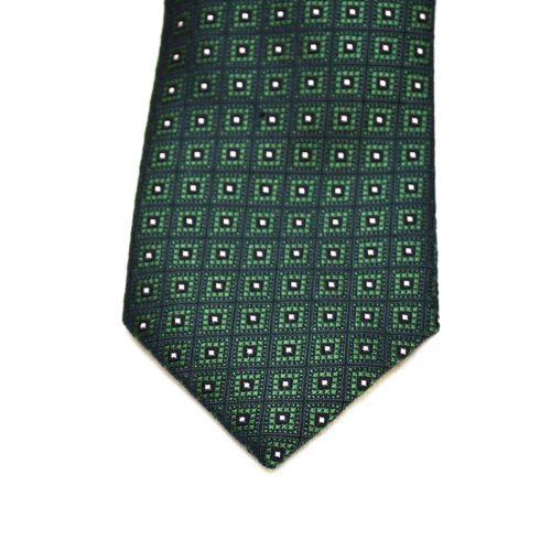 Green Pattern Silk Tie
