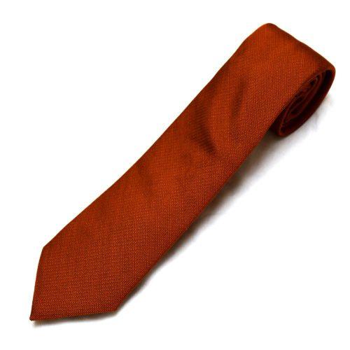 Orange Pique Silk Tie