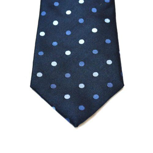 Navy Blue Polka Dot Pattern Tie