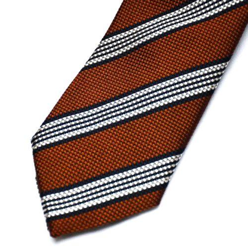 Brown/Navy Bold Stripe Tie