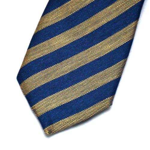 Gold/Navy Club Stripe Tie