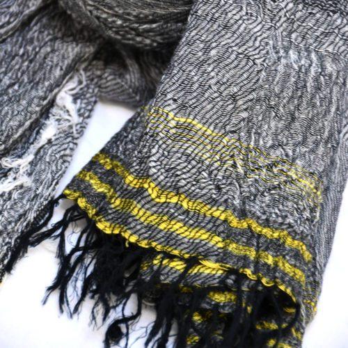 Grey/Yellow Tamaki Niime Kyomi Scarf