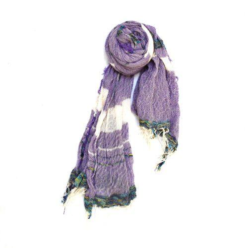 Lavender Tamaki Niime Cotton Shawl