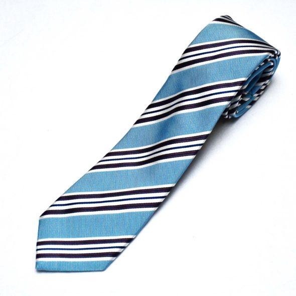 Light Blue Club Stripe Tie