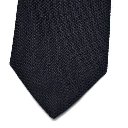 Navy Grenadine Silk Tie