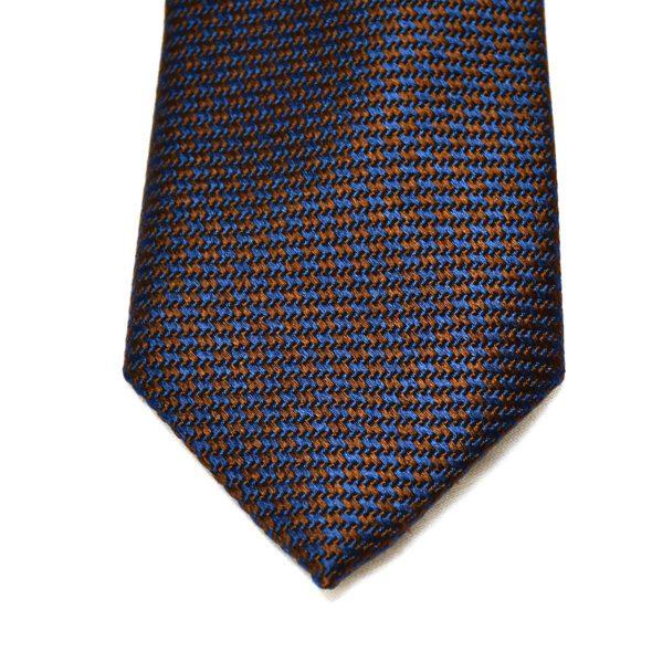 Navy/Brown Silk Tie