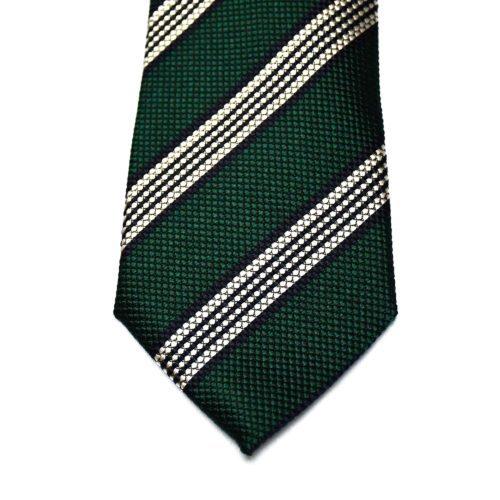 Navy/Green Bold Stripe Tie