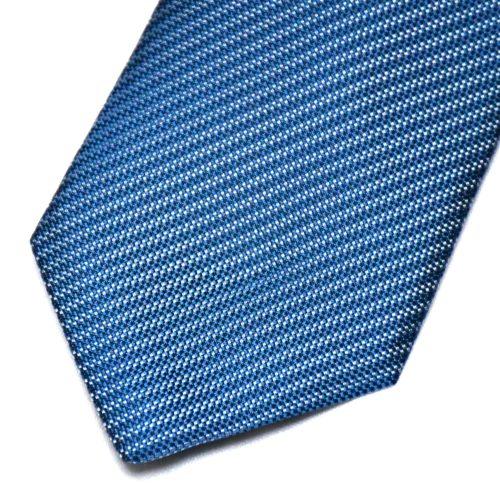 Light Blue Pattern Nishijin Silk Tie