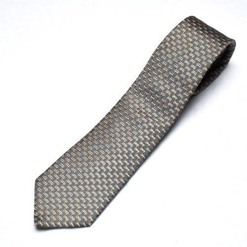 Silver/Tan Silk Tie