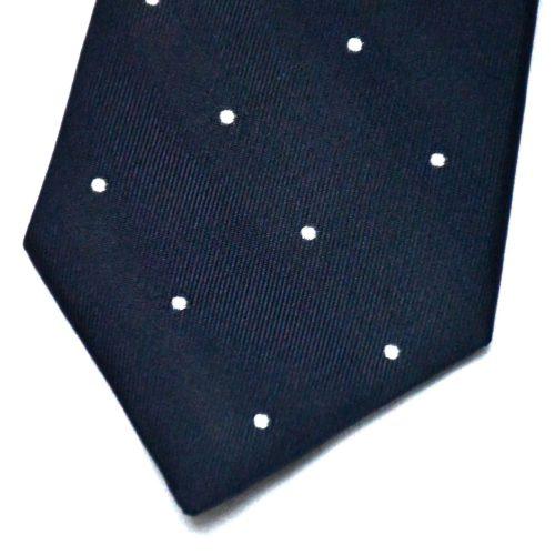 Navy Polka Dot Pattern Tie