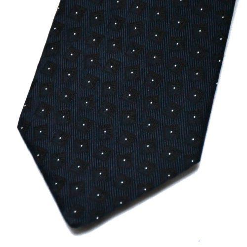 Navy Square Pattern Tie