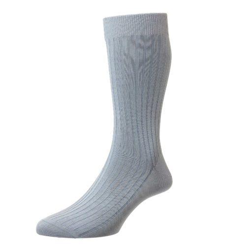 Sky Blue Cotton Socks