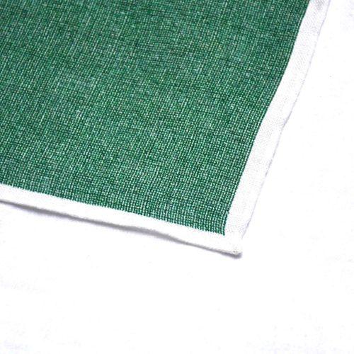 Green Linen Pocket Square