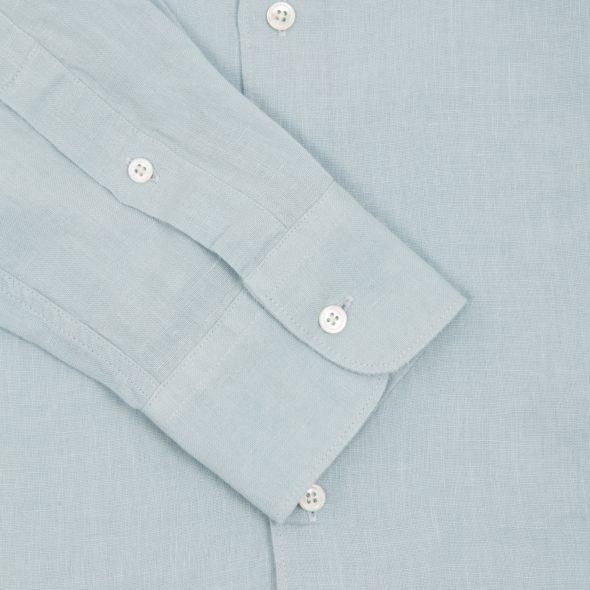 Light Blue Washed Linen Hoxton Shirt