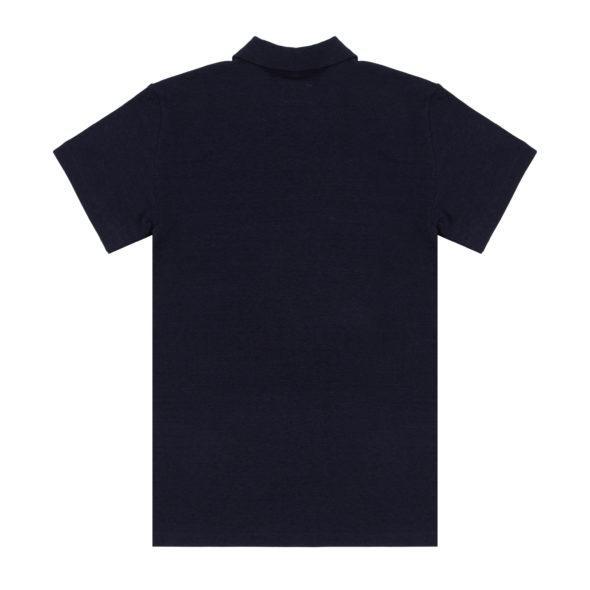 Timothy Everest Navy Cotton Knit Open Collar Polo