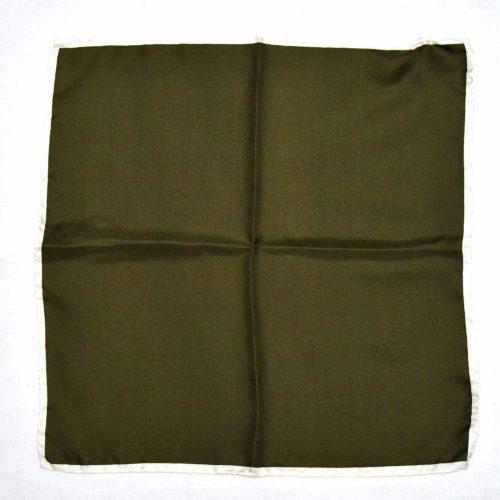 Olive Green Silk Pocket Square
