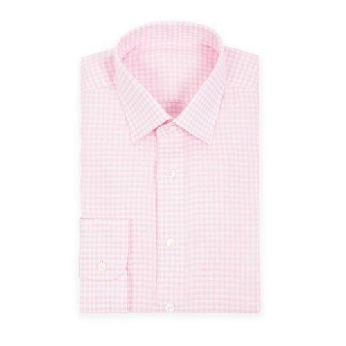Pink Linen Gingham Shirt