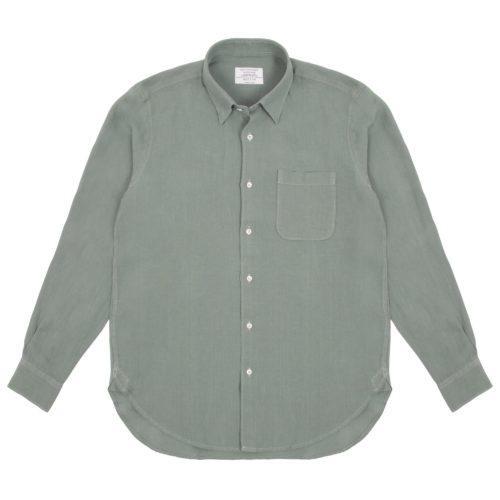 Sage Washed Linen Hoxton Shirt