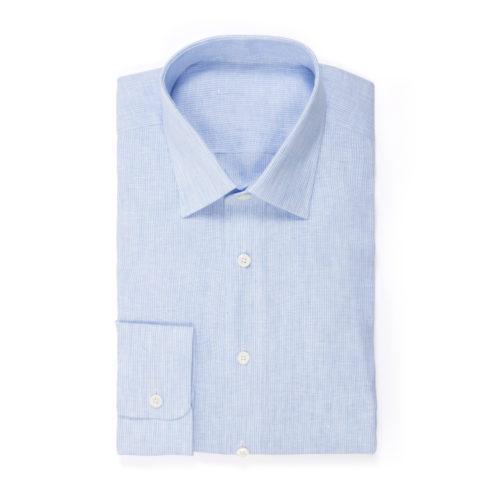Light Blue Linen Stripe Shirt