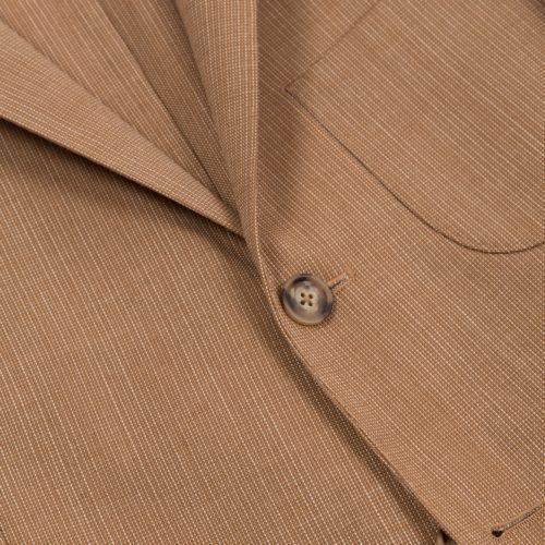 Light Brown Hairline Stripe Blazer