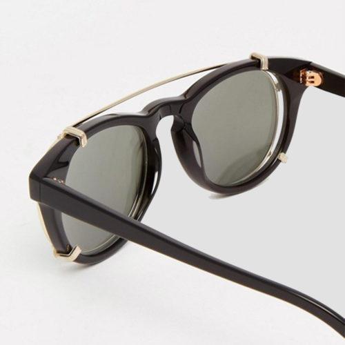 Han Kjobenhavn Timeless Clip On Black Sunglasses