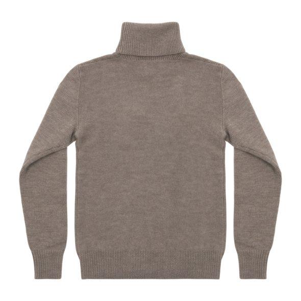 Fawn Merino Wool Reverse Stitch Roll Neck