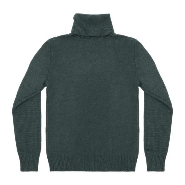 Forest Merino Wool Reverse Stitch Roll Neck