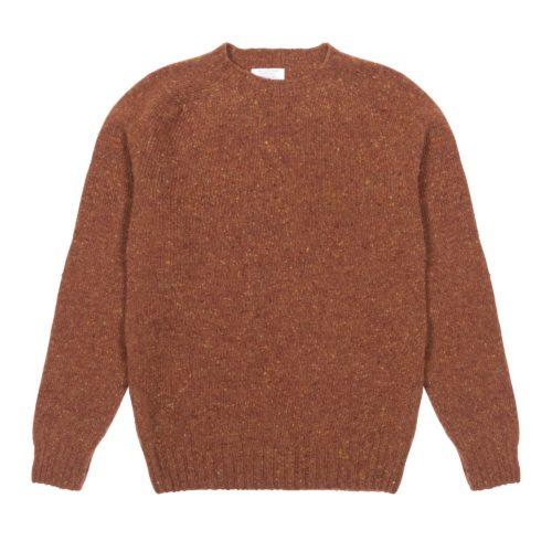 Rust Donegal Merino Wool Crew Neck