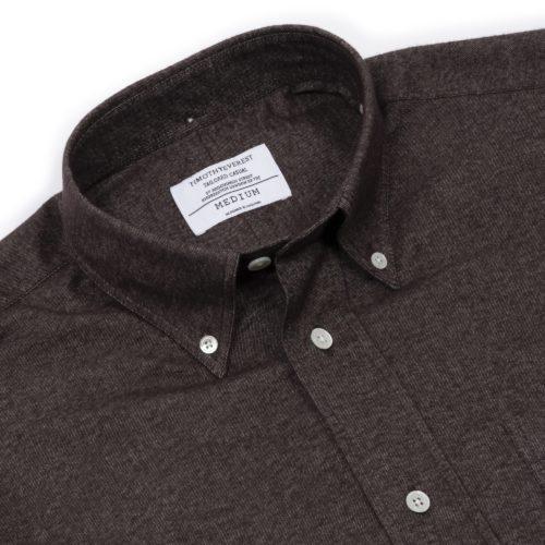 Dark Brown Brushed Cotton Redchurch Shirt