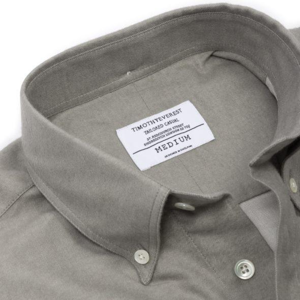 Grey Green Brushed Cotton Redchurch Shirt