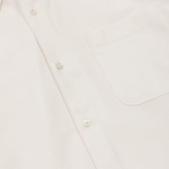 Ivory Brushed Cotton Twill Hoxton Shirt 1